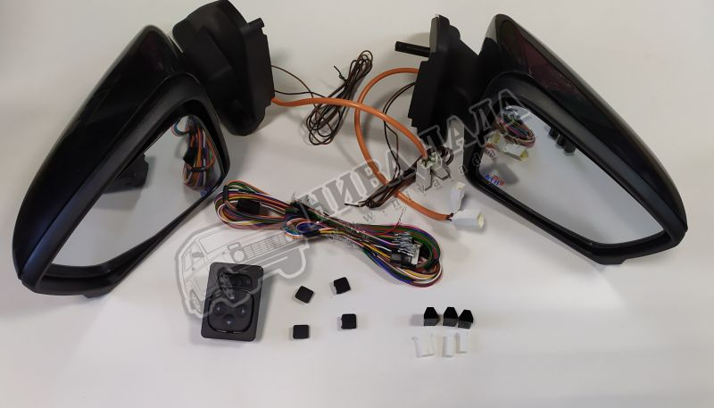 Зеркала боковые ВАЗ 21214 с повторителем поворота (к-кт 2 шт.) джойстик+провода