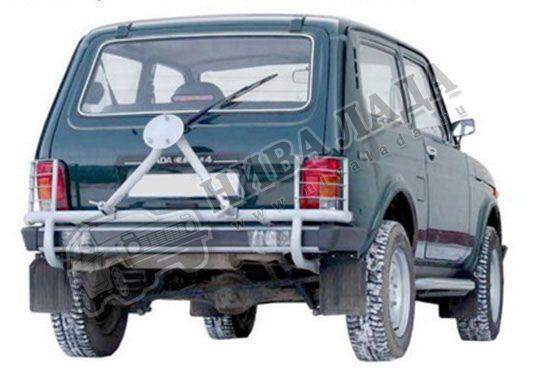 Кронштейн запасного колеса усиленный с защитой фонарей ВАЗ 21214-31